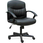 HON® Sadie Mid-Back Task Chair- Fixed Arms - Leather - Black