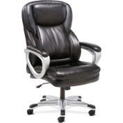 HON® Sadie Executive Office Computer Chair with Fixed Arms - Black Leather
