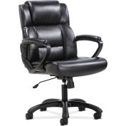 HON® Sadie Executive Office Chair - Leather - Ergonomic Swivel - Black