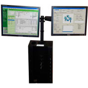 """Post Mount Dual Monitor Mounts For Monitors 19"""" or Less - Newcastle Systems B179"""