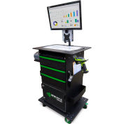 Newcastle Systems QC1010 QC Series Mobile Powered Workstation, Standard Power Package, 100AH Battery