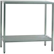 """Aluminum Heavy Duty 2-Shelf rack, 20""""Wx48""""Hx48""""L"""