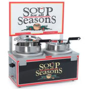 NEMCO® 6510-D7, Soup Merchandiser, Double 7 Qt Well, Single Thermostat w/ Header, 120 Volt