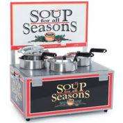 NEMCO® 6510-T4, Soup Merchandiser, Triple 4 Qt Well, With Header, 120 Volt