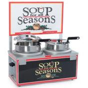 Soup Merchandiser, Double 7 Qt Well, Double Thermostat w/ Header