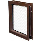 """National Guard L-FRA-DKB-SL1W-GT118 Low Profile Lite Kit With Wired Glass 13""""L x 13""""W"""