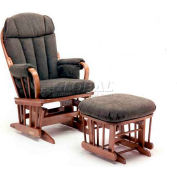 NK Medical Glider Rocker, Bow Back, Burgundy