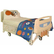 "NK Medical Youth Bed 115E-H, Electric, 5"" Casters, 4 IV Hooks"