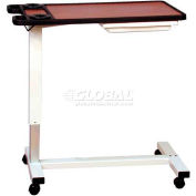 """NK Medical Acute Care Overbed Table with Dual Cupholders, No Vanity, Gas Cylinder Lift, 18"""" x32"""" Top"""