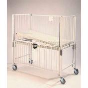 "NK Medical Child Standard Crib C1981CLT, 30""W x 60""L x 61""H, Trendelenburg Deck, Chrome"