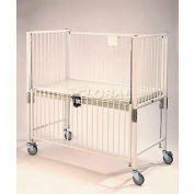 """NK Medical Youth Crib C1983CG, Standard, 36""""W X 72""""L X 61""""H, Gatch Deck, Chrome"""