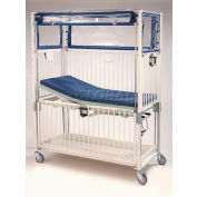 """NK Medical Child ICU Crib C2082CG, Klimer, 30""""W X 60""""L X 78""""H, Gatch/Trend Deck, Chrome"""