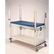 """NK Medical Youth ICU Crib C2083CG, Standard, 36""""W X 72""""L X 61""""H, Gatch Deck, Chrome"""