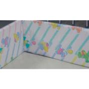 """NK Medical Bumper Pad C40, 1"""" X 7"""" Foam, To Fit 30""""W X 44""""L Infant Crib"""