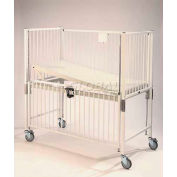 "NK Medical Child Crib E1981CGT, Standard, 30""W X 60""L X 61""H, Gatch/Trend Deck, Confetti"