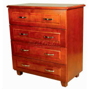 "NK Medical Chest, Lexington, 4 Drawers, 32-1/2""W X 17""D X 40""H, Wild Cherry"
