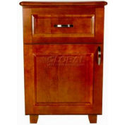"NK Medical Bedside Cabinet, Lexington, 1 Door, 1 Drawer, 22""W X 17""D X 32""H, Honey Maple"