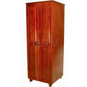 "NK Medical Wardrobe, Lexington, 2 Doors, 24"" Interior, 27-1/2""W X 25""D X 72""H, Milwork Cherry"