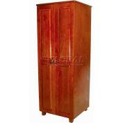 "NK Medical Wardrobe, Lexington, 2 Doors/2 Drawers, 24"" Interior, 27-1/2""WX25""DX72""H, Cherry Mahogany"
