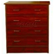 "NK Medical Chest, Monroe, 3 Drawers, 32""W X 17""D X 29""H, Cherry Mahogany"
