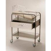 """NK Medical Bassinet NB-SSxD, 6"""" Deep Drawer, No Basket, Stainless Steel"""
