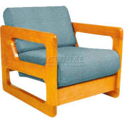 "NK Medical Open Arm Butcher Block Chair, 27-1/4""W X 30""D X 26""H, American Cherry"