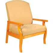 "NK Medical Bariatric Room Chair, 32""W X 30""D X44""H, 500 Lbs. Max, Cherry Mahogany"