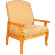 "NK Medical Bariatric Room Chair, 32""W X 30""D X44""H, 500 Lbs. Max, Honey Maple"