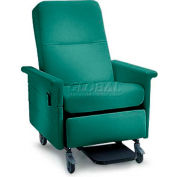 NK Medical Recliner Chair, Stationary, No Casters, 300 Lbs. Max, Aquamarine