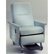 NK Medical Bariatric Medical Recliner, Side Table, Push Bar & Lower Seat, 500 Lbs. Max, Bonnie Blue