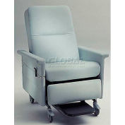 NK Medical Bariatric Medical Recliner, Side Table, Push Bar & Foot Rest, 500 Lbs. Max, Colonial Blue