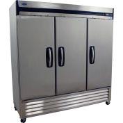 Nor-Lake® GF72SSS/0 Grand™ Stainless Steel Solid Three Door Freezer