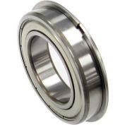 Nachi Radial Ball Bearing 6201zznr, Double Shielded W/Snap Ring, 12mm Bore, 32mm Od