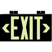 Glo-Brite Exit - Black Single Face w/ Bracket