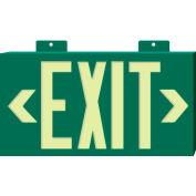 Glo-Brite Exit - Green Single Face w/ Bracket