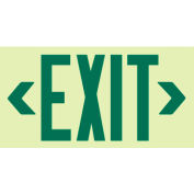 Glo-Brite Exit - Green Frameless