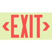 Glo-Brite Exit - Red Redlective Frameless