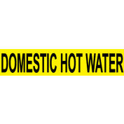 Pressure-Sensitive Pipe Marker - Domestic Hot Water, Pack Of 25