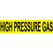 Pressure-Sensitive Pipe Marker - High Pressure Gas, Pack Of 25