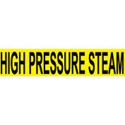 Pressure-Sensitive Pipe Marker - High Pressure Steam, Pack Of 25