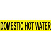 Pressure-Sensitive Pipe Marker - Domestic Hot Water, Pack Of 25