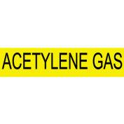 Pressure-Sensitive Pipe Marker - Acetylene Gas, Pack Of 25