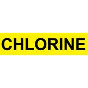 Pressure-Sensitive Pipe Marker - Chlorine, Pack Of 25