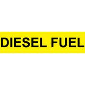 Pressure-Sensitive Pipe Marker - Diesel Fuel, Pack Of 25