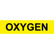 Pressure-Sensitive Pipe Marker - Oxygen, Pack Of 25