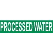 Pressure-Sensitive Pipe Marker - Processed Water, Pack Of 25