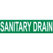 Pressure-Sensitive Pipe Marker - Sanitary Drain, Pack Of 25
