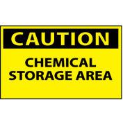 Machine Labels - Caution Chemical Storage Area
