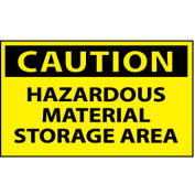 Machine Labels - Caution Hazardous Material Storage Area
