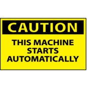 Machine Labels - Caution This Machine Starts Automatically